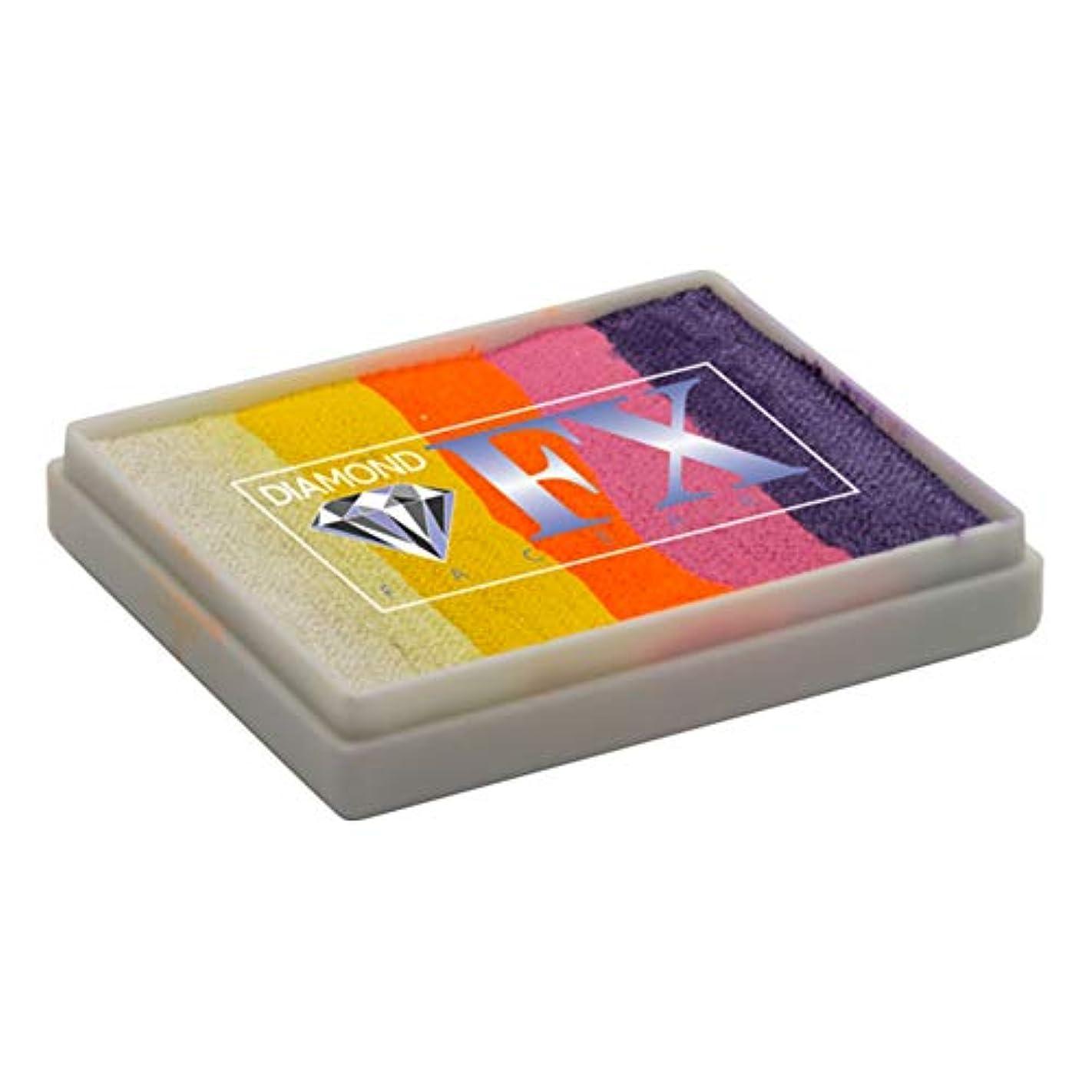 マントル不利益出発ダイアモンドFXスプリットのケーキ - アイランドフィーバーRS50-25、プロ品質のフェイスレインボーケーキ、水の活性化フェイスペイント、1.76オンス/ 50グラム絵画