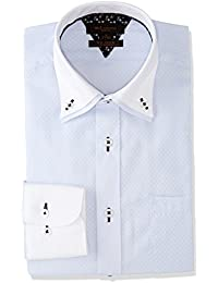 [タカキュー] m.f.Editorial 形態安定 スリムフィット 2枚衿ドゥエボタンダウンシャツ メンズ 110214619765833