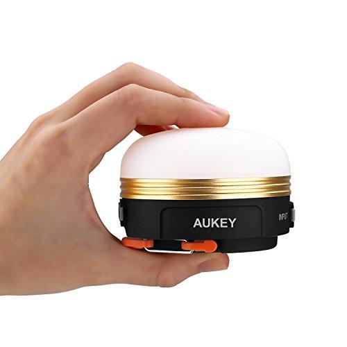 AUKEY LEDランタン アウトドアライト 懐中電灯 USB充電式 マグネット 防災 キャンプ用品 三つ調光モード LT-SCL01