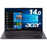 Acer ノートパソコンSwift 7/軽さ850g/薄さ9.95mm/14.0型FHD IPSタッチパネル/Core i5/8GB/256GB SSD/ドライブ無し/Windows 10/SF714-52T-A58U/K/スターフィールドブラック