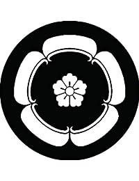家紋シール 織田うり紋 布タイプ 直径40mm 6枚セット NS4-1926
