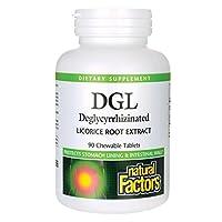 海外直送品 Natural Factors DGL Licorice Root Extract, 90 Chewable Tabs