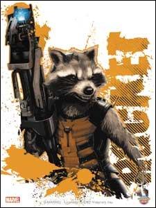 Marvel(マーベル) Guardians of the Galaxy(ガーディアンズ・オブ・ザ・ギャラクシー) Rocket Gun ステッカー