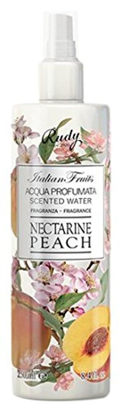 適度に快適リーフレットRUDY Italian Fruits Series ルディ イタリアンフルーツ Body Mist ボディミスト Nectarine Peach