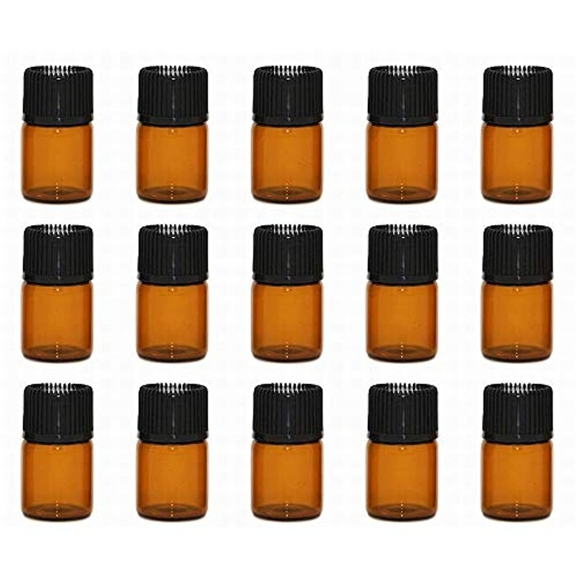 実行可能晩ごはんモンスターアロマオイル 精油 小分け用 遮光瓶 セット (1ml 20本 セット)