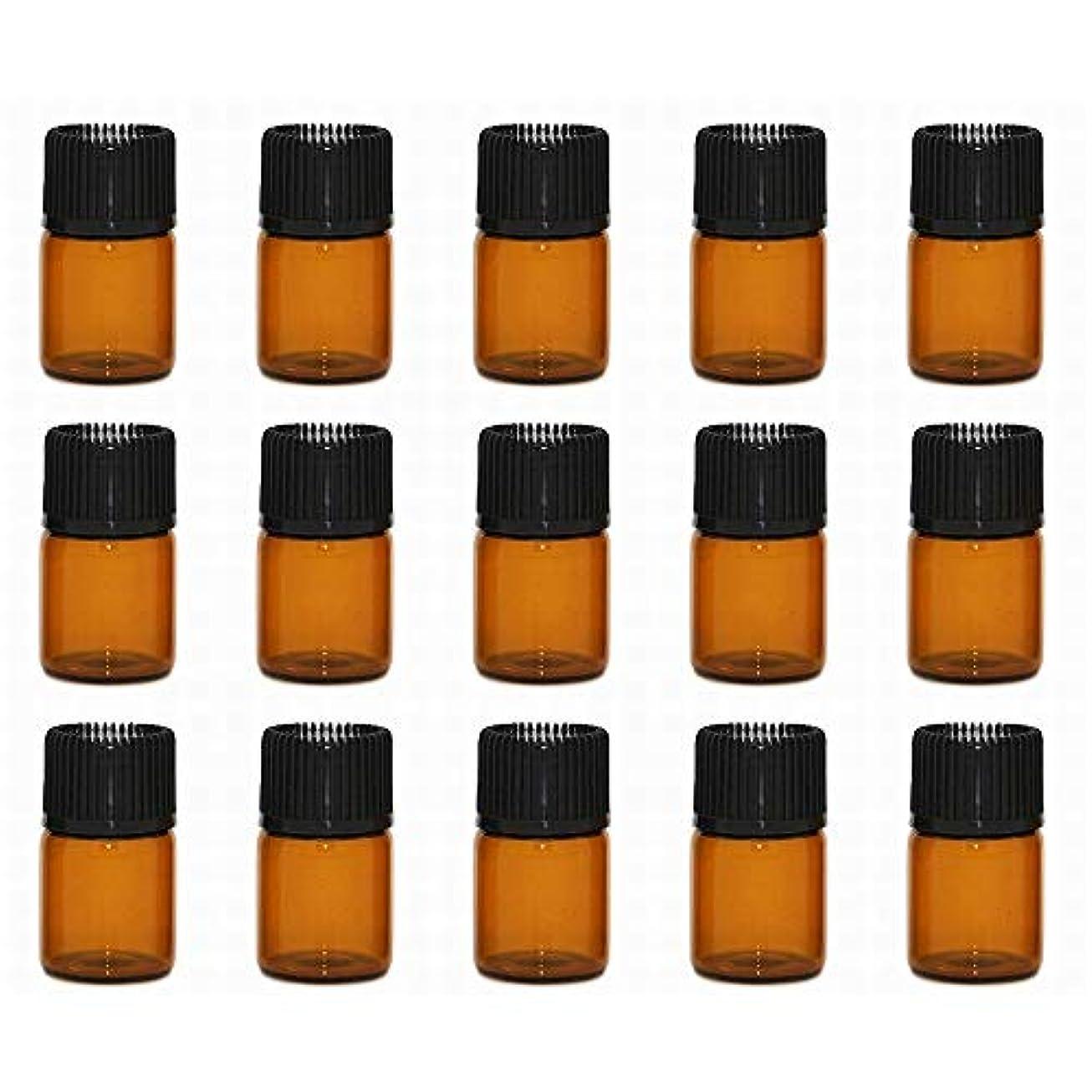 豊富モス堂々たるアロマオイル 精油 小分け用 遮光瓶 セット (1ml 20本 セット)