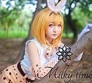 [milky time] ウィッグ付き★ けものフレンズ けもフレ サーバル 風 コスプレ 衣装 サーバルキャット
