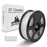 3D Hero 3DプリンタTPU 1.75 mm 0.5 KG透明フィラメント成形材料、サイズ精度±0.03 mm、3Dプリンタおよび3Dペン、良質の原材料(光沢のある表面、高い透明度)に適しています。