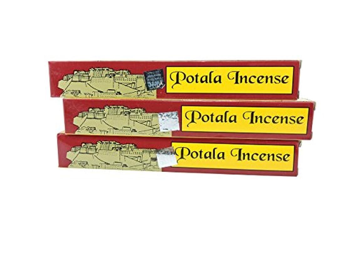 払い戻し分析的な縮れたチベットの手3ボックスPotala 60チベット従来のIncense Sticks