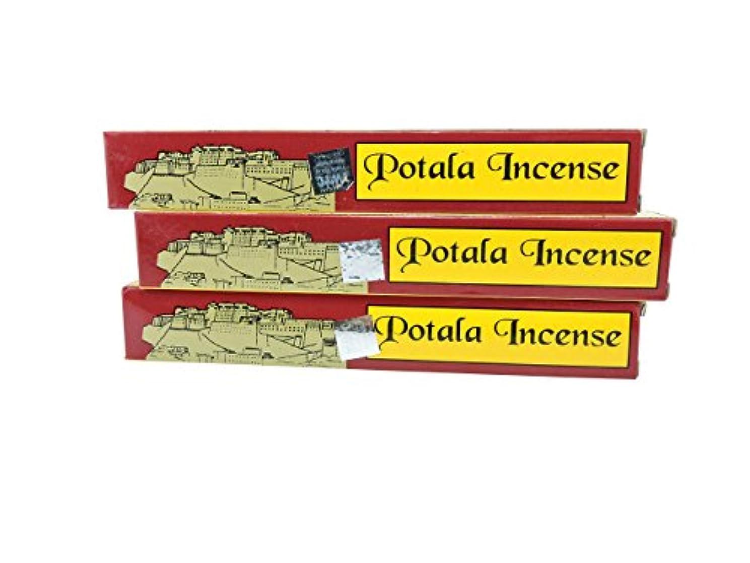桁ステップ繰り返しチベットの手3ボックスPotala 60チベット従来のIncense Sticks