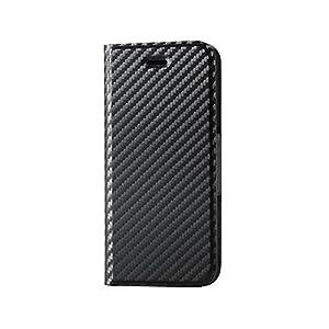 エレコム iPhone7ケース [iPhone8対応] ソフトレザーケース 薄型 マグネット 手帳型 PM-A16MPLFUMCB
