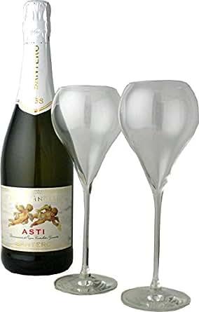 特製グラス2脚付き♪サンテロ 天使のアスティ NV 750ml マスカットの風味が美味しい!アスティNo.1スパークリング