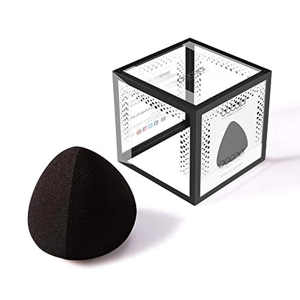 ちっちゃいアーティキュレーション象Docolor 多機能メイク用スポンジパフ (ブラック)