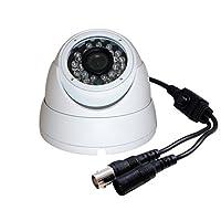 Evertech 1MP CMOS Sensor 720P AHD / 1000TVL Regular Analog Vandal Proof 24 IR Wide Angle Lens White Dome Camera with OSD Button for CCTV Systems [並行輸入品]