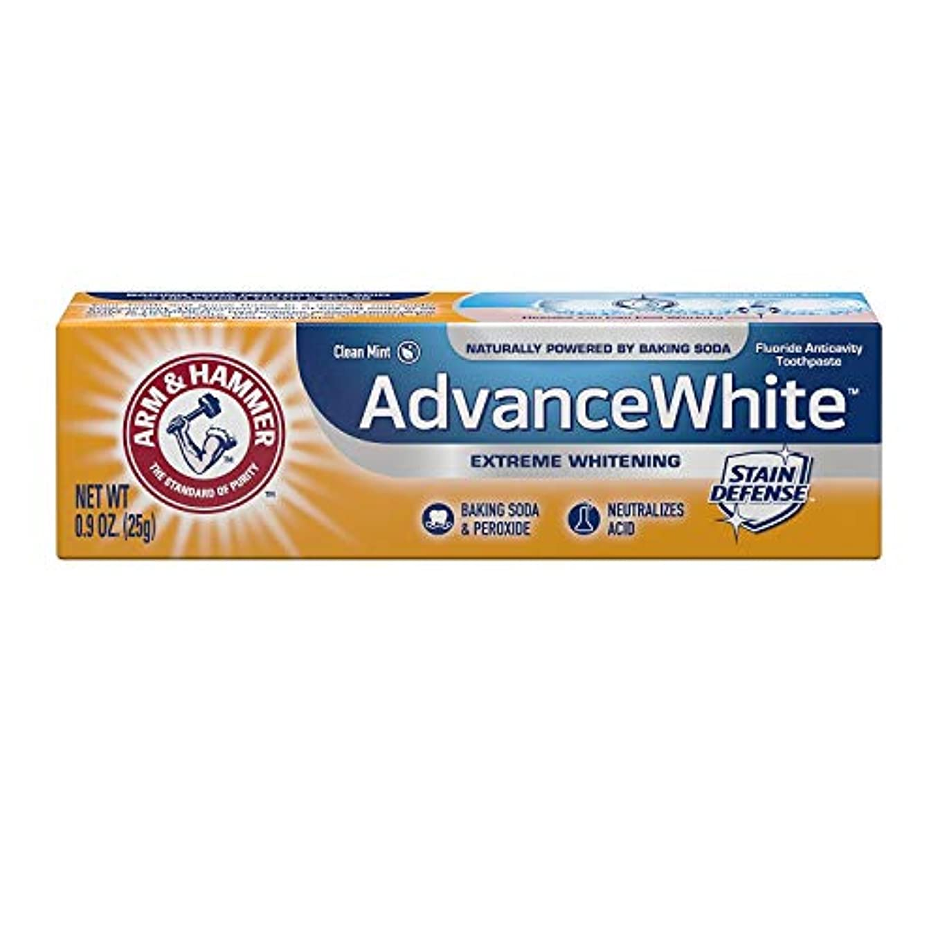 リーク民主党忌まわしいArm & Hammer Advance White Extreme Whitening with Stain Defense Baking Soda & Peroxide Toothpaste - 4.3 oz by...