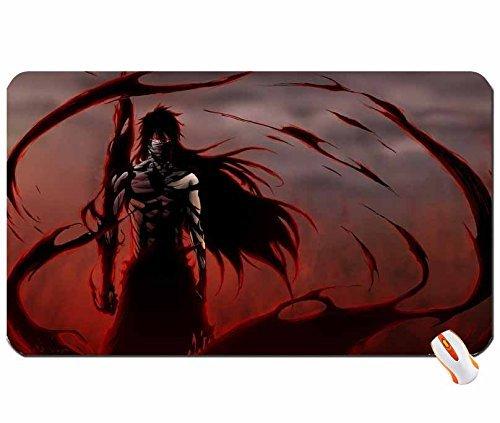 アニメBleach Kurosaki Ichigo Final Getsuga Tenshou Mugetsu 1280x 768壁紙Bigマウスパッドコンピュータマウスパッド寸法: 23.6X 13.8X 0.2