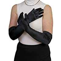 Dents Women's Satin Finish Elbow Length Evening Gloves - Length Is 11Bl (Just Elbow Length)