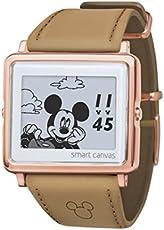 [エプソン スマートキャンバス]EPSON smartcanvas Mickey & Friends スムースレザー 腕時計 W1-DY30440