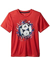 (アディダス) adidas キッズTシャツ USA Tee (Toddler/Little Kids) Bright Red 7X Little Kids (7歳) One Size