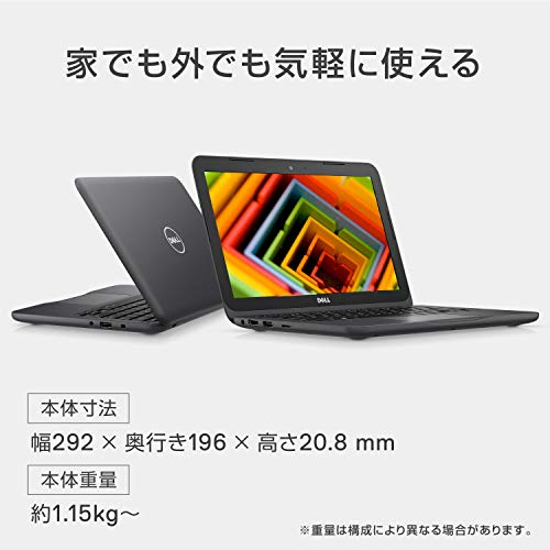 『Dell ノートパソコン Inspiron 11 3180 AMD-A6 Windows10/11.6インチHD/4GB/32GB/eMMC/グレー/18Q11G』の4枚目の画像