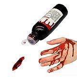 リアルな血のり ハロウィン コスプレ 鮮血色タイプ ゾンビ 血だらけ 洗える 落とせる