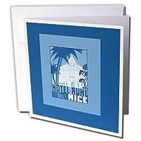 BLNビンテージ旅行ポスター、荷物タグ–ホテルで素敵なヴィンテージ荷物ラベルRuhl Palace Likeホテルinブルー–グリーティングカード Set of 6 Greeting Cards