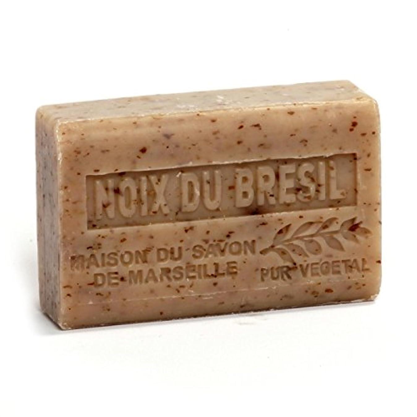 劇作家もつれ木製Savon de Marseille Soap Brasil Nuts Shea Butter 125g