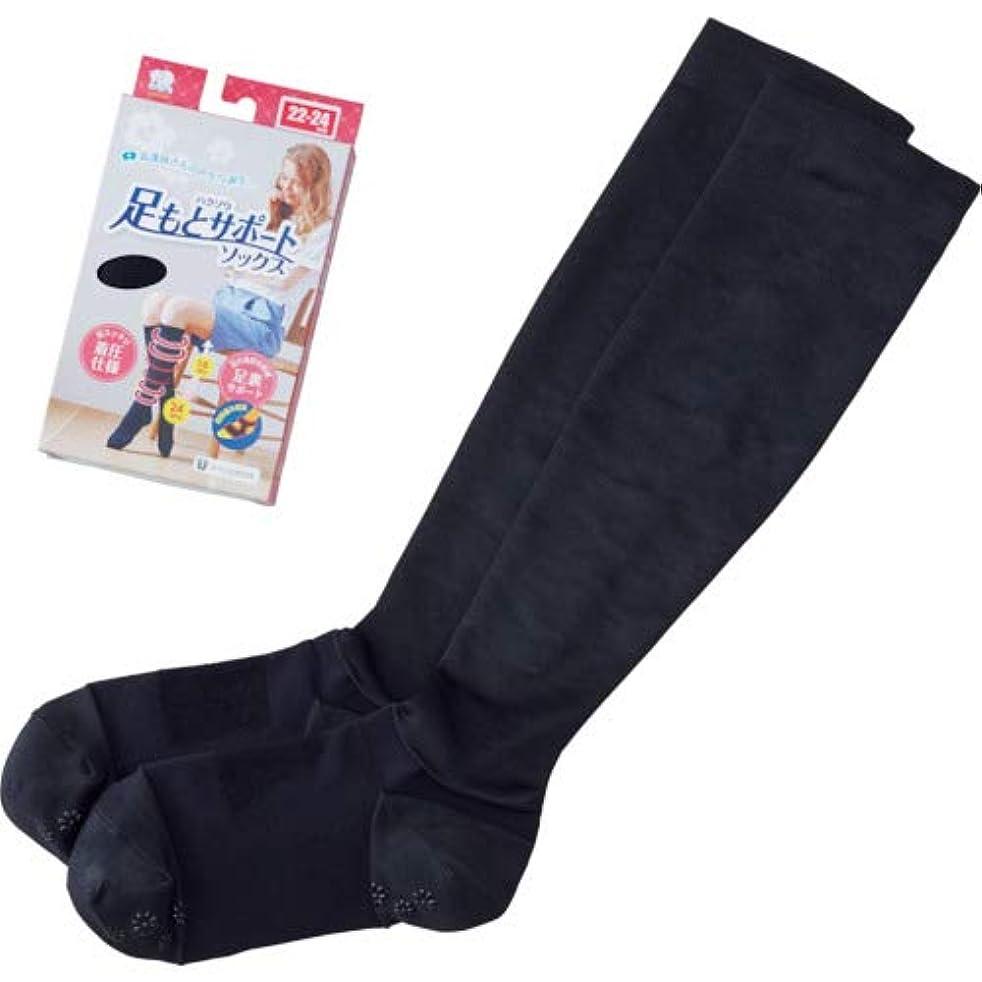 海外で残酷な評議会ハクゾウ ハクゾウ足もとサポートソックス Mサイズ(24~26cm) ブラック?3000092