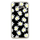 携帯電話taro au Galaxy A8 SCV32ケース (モノクロ花) SAMSUNG SCV32-COM-0103