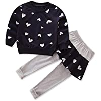 FlamingoAU Three Colors Into Girls Love Cotton Long-Sleeved Sweater T-Shirt + Culottes Shirt Dark Blue