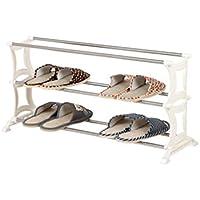 シューズラック- 3ティア靴ラックシンプルなステンレススチール収納キャビネットの家具クリエイティブシンプル靴靴オーガナイザー棚(ホワイト/ 70 * 26 * 37センチメートル)
