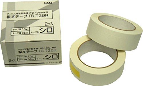 マックス テープ 製本用テープ TB-1000A用 白 TB-T36Rシロ