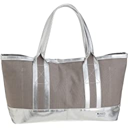 Massive Court Light Tote S: Gray / Silver