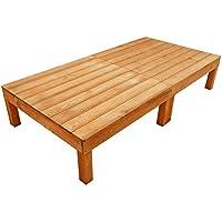 igarden アイガーデン ウッドデッキ2点セット ブラウン アイガーデンオリジナル天然木製ウッドデッキ、ウッドデッキセット、木製デッキ、縁台