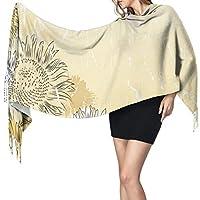 手描きひまわり背景2974女性のスカーフファッションスカーフ暖かいラップショールケープクリスマスギフト用母ガールフレンド姉妹