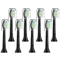 Sonifresh 交換ヘッド歯ブラシ用ヘッドセットフィリップソニカ電気歯ブラシ - プラークコントロールガム 健康ダイヤモンド クリーンフレックス ケアイージークリーンとヘルシーホワイト 8パック 8パック