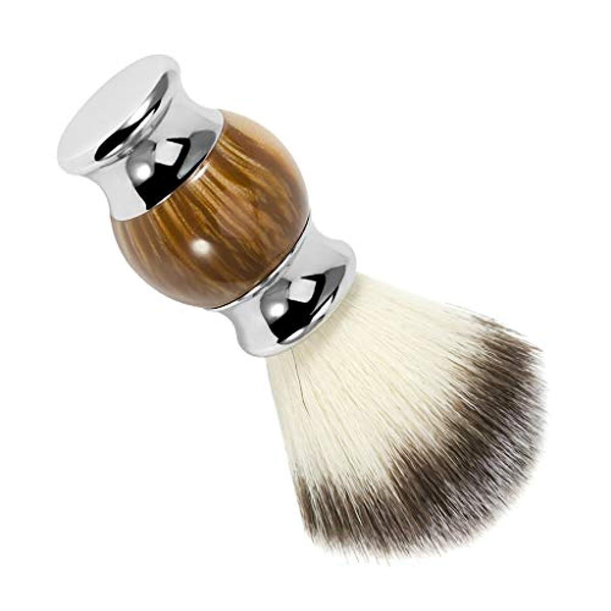 地下なだめる薬用P Prettyia シェービングブラシ 理髪ブラシ 剃毛ブラシ 口ひげブラシ 樹脂ハンドル 理髪サロン