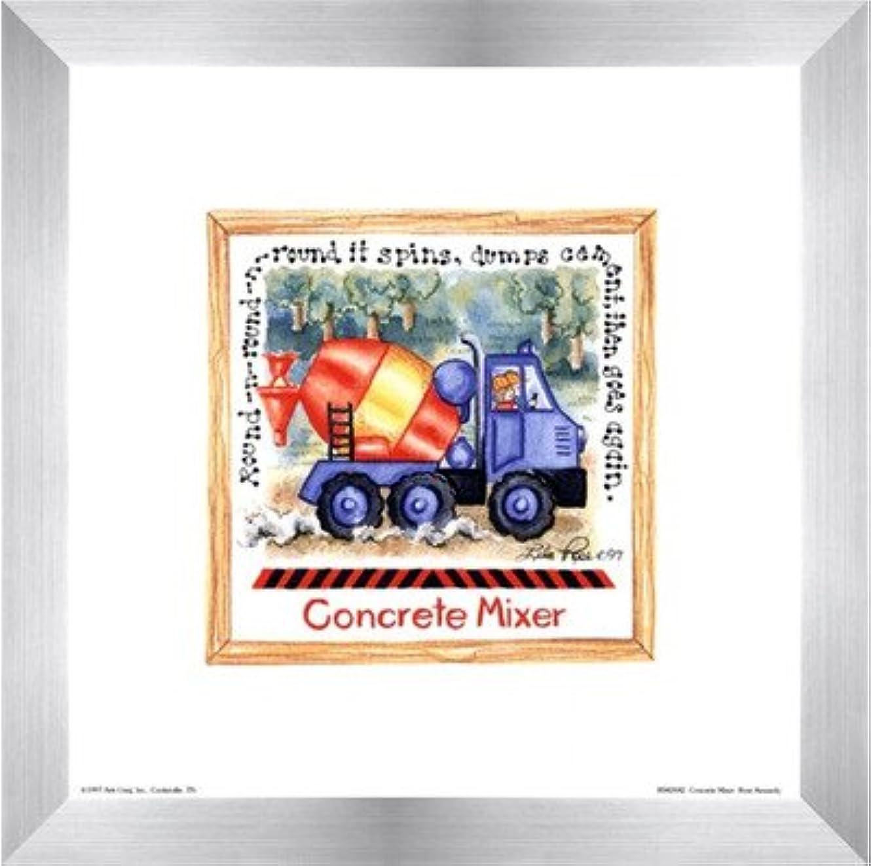リブ苦難誇張コンクリートミキサーby Lila Rose Kennedy – 8 x 8インチ – アートプリントポスター LE_391264-F9935-8x8