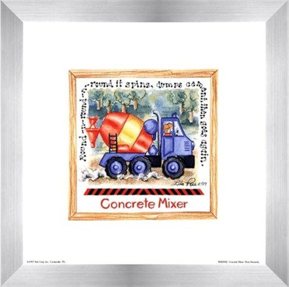 同情政府メタリックコンクリートミキサーby Lila Rose Kennedy – 8 x 8インチ – アートプリントポスター LE_391264-F9935-8x8