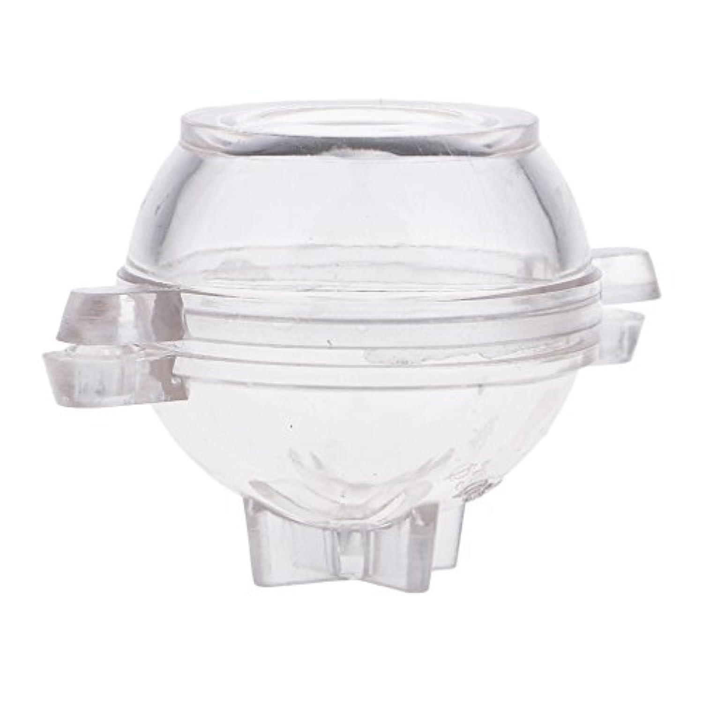 Homyl 1セット プラスチック製 丸いキャンドル DIYキャンドル 手作り金型 石鹸モールド キャンドル工芸品 再使用 30mm