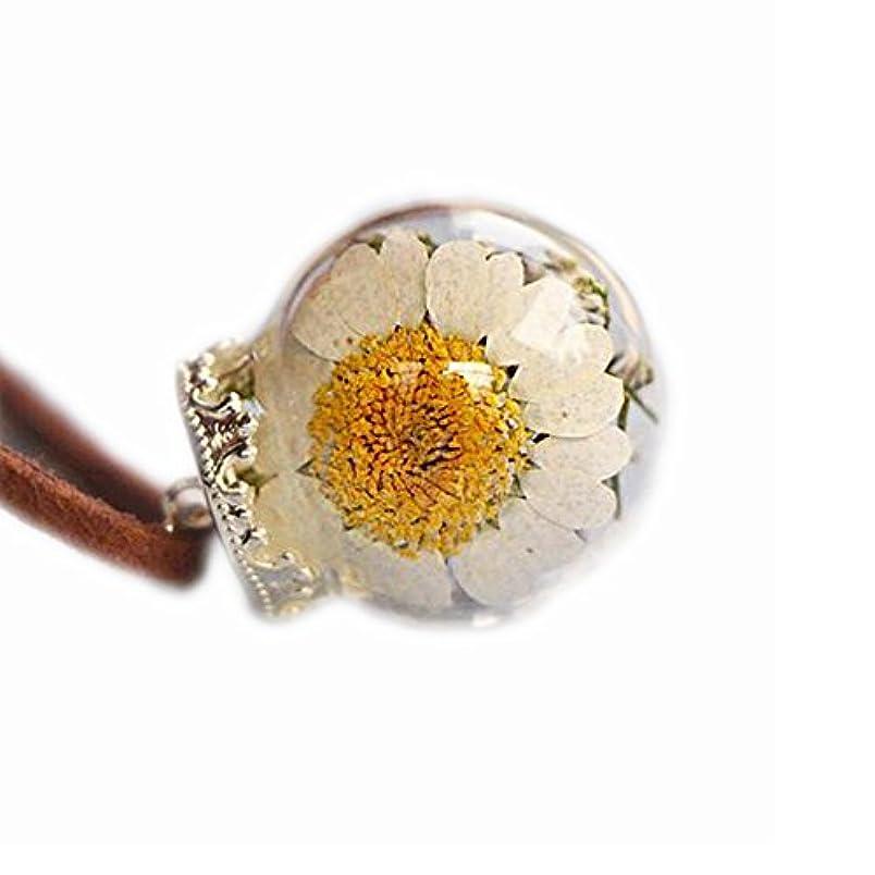 膨らみスイッチいとこ美しい乾燥した花のペンダントネックレス特別なネックレス良いギフト