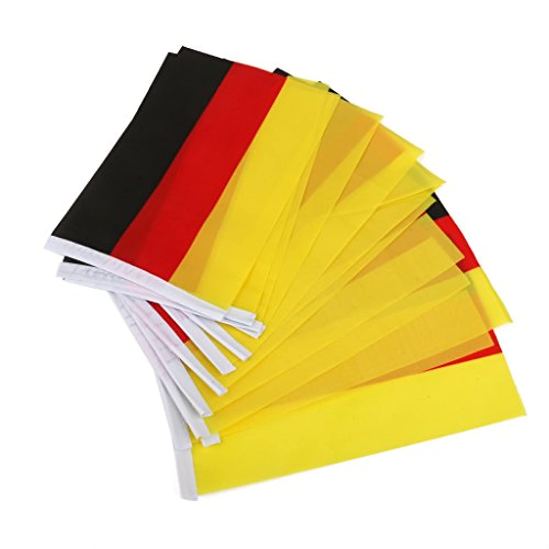 sharprepublic 国旗  手回し旗 ハンドヘルドハンド 小さな バナーとポーランド 10個  全5国 - ドイツ