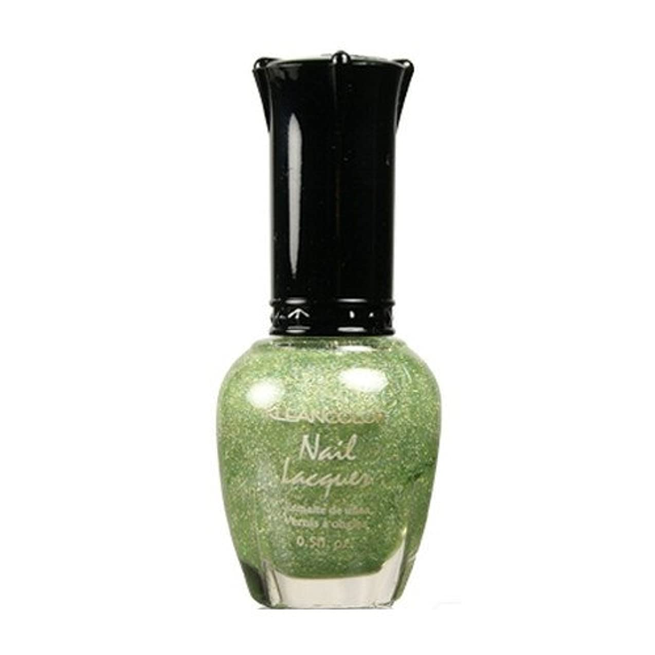 アソシエイト適性混乱KLEANCOLOR Nail Lacquer 3 - Holo Green (並行輸入品)