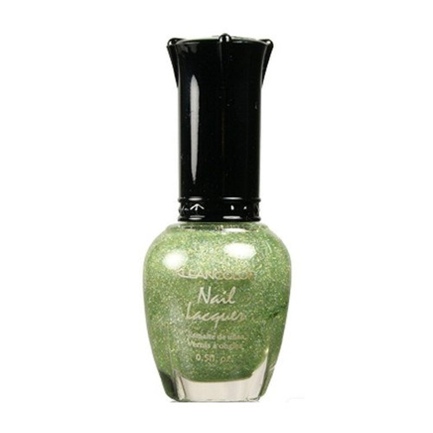 影のある落花生用心深いKLEANCOLOR Nail Lacquer 3 - Holo Green (並行輸入品)