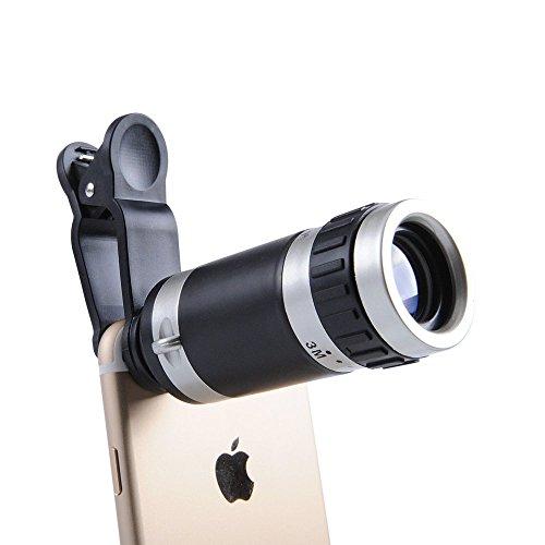 携帯カメラレンズ マホカメラレンズ クリップ 小型 iPhone Android単眼鏡 クリップ式望遠レンズキットセット ユニバーサル クリップ レンズ ミニ 携帯電話 望遠レンズ 望遠 スマートフォン用望遠鏡 携帯用 挟み 8X 装着簡単 各種スマートフォン対応