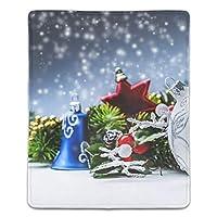 マウスパッド おしゃれ 高耐久性 滑り止め 防水 クリスマスの飾り PC ラップトップ 水洗い レーザー 光学式 18*22cm