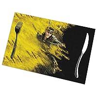 THOR 16 ランチョンマット プレースマット テーブルマット ランチマット 食卓マット 撥水 防汚 断熱 簡単 滑り止め 摩擦 耐える 飾り30×45cm 6枚セット 丸洗いOK PVC製 抗菌 無臭 家庭 レストラン 用