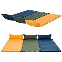 Naturehike 睡眠パッド、幼児自己インフレータブルキャンプ用寝袋、クイックフローバルブ、付いたインフレータブルピロー