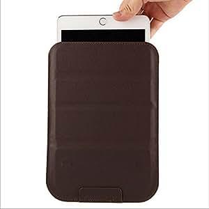 タブレットケース 8 インチ 8寸対応 バッグ型 ポーチ型 ゼンパッド3 スリム スタンド変形 レザーケース Zenpad 3 8.0 Z581KL ipad mini、ipad2(7.9-8.2寸のタブレットに対応しています) ブラウン