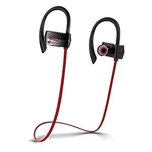 ワイヤレスイヤホン EC Technology Bluetooth スポーツイヤホン 耳から外れにくい 耳掛け式 ステレオイヤホン 高音質 ランニング ジョギングに適用 iPhone/iPad/Glaxy/Andriodデバイスに対応